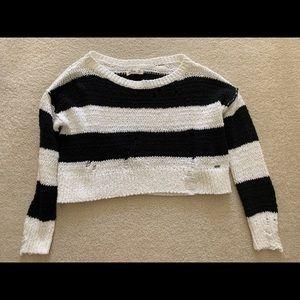 Hollister Black White Striped Sweater Size XS.
